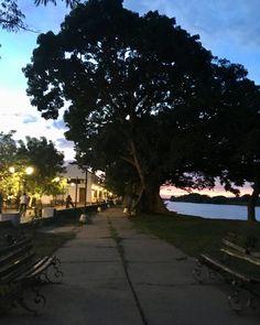 Sidewalk, Celestial, Sunset, Outdoor, Santa Cruz, Cities, Sunsets, Outdoors, Side Walkway