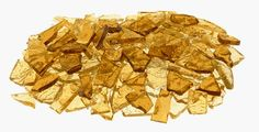 Mixed Gold Stained Glass Cobbles-8 ounces(half pound) * Click image for more details.