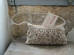 Reserved for Georgia - City Bohemian Uptown Chic Clutch with Shoulder Strap - OOAK Handwoven