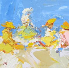 Afternoon Fun after EH Potthast, painting by artist Sally Cummings Shisler