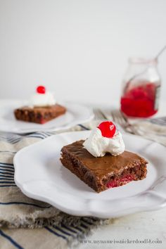 Cherry Chocolate Sheet Cake is made from scratch and irresistible! It's one cake recipe you will want to make again and again.