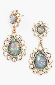 BaubleBar 'Femme Floral' Teardrop Earrings available at #Nordstrom