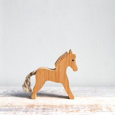 Vintage Handmade Horse Toy / Modern Folk, Wood, Waldorf, Dala Horse