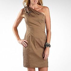 This pretty gold dress is only $20 at JCPenney!  Would be great for a cocktail party, bridesmaid or mother of the bride!