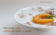 Melocotón con crema de queso y yogur - http://www.thermorecetas.com/2014/05/13/melocoton-con-crema-de-queso-y-yogur/
