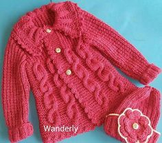 This Pin was discovered by Ümr Baby Boy Knitting Patterns Free, Baby Sweater Knitting Pattern, Knitting For Kids, Knitting Dolls Clothes, Knitted Baby Clothes, Crochet Clothes, Baby Girl Sweaters, Baby Coat, Baby Girl Crochet