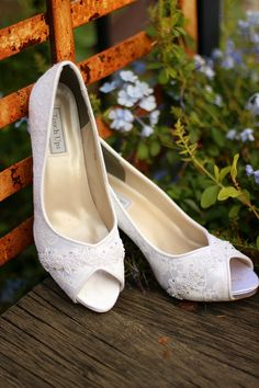 Love peep toe with some lace, ivory color, flat to slight wedge heel- probably my favorite so far