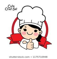 Paling Keren 30 Gambar Koki Kartun - Gambar Ipin Cake Logo Design, Food Logo Design, Logo Food, Logo Chef, Logo Online Shop, Cartoon Chef, Kitchen Logo, Coffee Cup Art, Bakery Logo