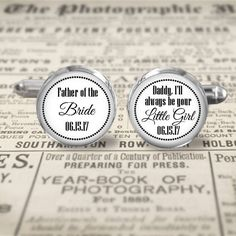 Wedding Cuff Links  Accessories  Cufflinks  Father of the