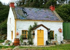 Cottage By The Sea ! is part of Irish cottage Inch Island, Donegal Ireland - Irish Cottage, Cottage Plan, Cottage Homes, Small Cottage Interiors, Cottage Door, Cottage In The Woods, Cozy Cottage, Cottage Style, Cottages By The Sea