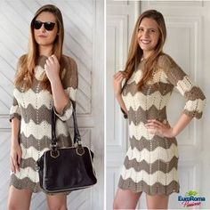 [New] The 10 Best Art Today (with Pictures) Crochet Coat, Crochet Clothes, Diy Crafts Crochet, Crochet Stitches Patterns, Diy Dress, Chevron, Dress Patterns, Ideias Fashion, Mermaid Sweetheart