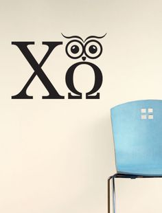 Chi Omega Owl'Mega Decal