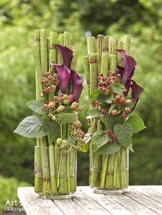 Bouquet créatif: Bâtons de renouée et fruits - Jardin - Maison - Femmes d'Aujourd'hui