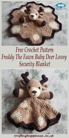 Crochet Pattern: Freddy The Fawn Baby Deer Lovey Security Blanket Häkelanleitung Freddy The Faun Baby Deer Lovey Sicherheitsdecke Gratis Häkelanleitung – Glück basteln Baby stuff (Visited 6 times, 1 visits today) Beau Crochet, Crochet Deer, Love Crochet, Crochet Gifts, Crochet Dolls, Crochet Baby Toys, Crochet Baby Stuff, Crochet Simple, Crochet Blanket Patterns