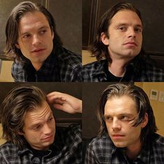 I want Sebastian with his long hair to meet Jared Padalecki and I want tons of photos of this meeting pretty pretty please