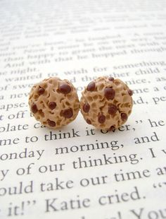 Polymer Clay Chocolate Chip Cookie Earrings by Emariecreations, $11.00