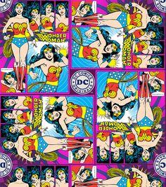 Tela FQ :: Wonder Woman block :: de nosgustanlosretros por DaWanda.com