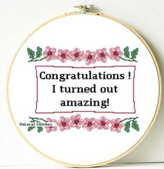 Funny Mother's Day gift. Funny cross stitch by ShopDeLorai on Etsy