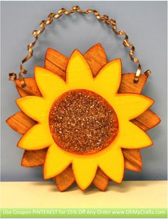 Free Download - Sunflower Wood Project, instructions & supplies list <3