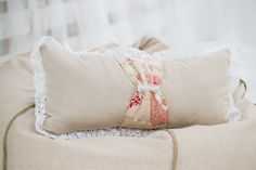 Decorative vintage pillow cover, vintage bedroom, rustic pillow by Magicbeanbag on Etsy