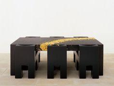 Mesa rectangular de madera X2 by Draenert diseño Oswald Mathias Ungers