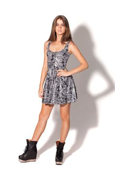 A Tribe Called White Reversible Skater Dress by Black Milk Clothing