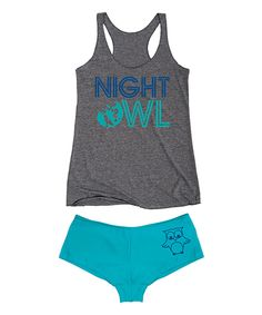 Look at this Athletic 'Night Owl' Tee & Turquoise Hipster on #zulily today!