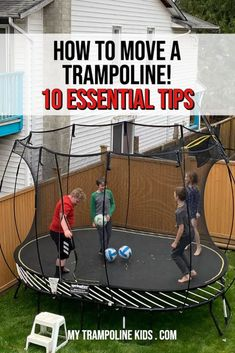 10 Essential Tips for Moving a Trampoline | My Trampoline Kids Spring Free Trampoline, Springless Trampoline, Toddler Trampoline, Trampoline Springs, Rebounder Trampoline, Trampoline Workout, Trampolines For Sale, 10 Essentials