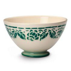 Milchkaffeeschale Keramik Waldgrün | Porzellan u.a. Einzelteile