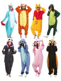 Adult Animal Onesie Kigurumi Pajamas for Adults Animal Cosplay Costumes Easy Disney Costumes, Cute Group Halloween Costumes, Halloween Kostüm, Cute Night Outfits, Cute Lazy Outfits, Couple Outfits, Boy Outfits, Adult Onesie Pajamas, Onesie Costumes