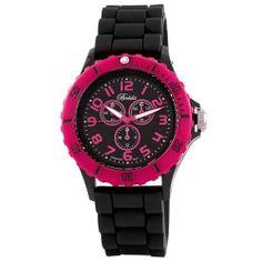"""Breda Women's 2290-Black/Pink """"Peyton"""" Trendy Tachymeter Silicone Watch Breda. $31.50. Save 30% Off!"""