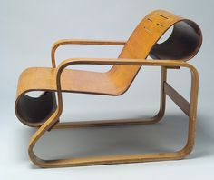 Alvar Aalto, the first to use bend plywood. model no. 1 lounge chair.