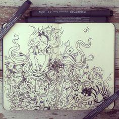 #26 Alice in DoodleLand by 365-DaysOfDoodles.deviantart.com on @deviantART