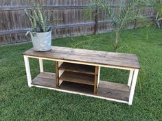 Rustic Media Console TV Stand Custom Order Only by AccentandMAIN