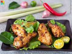 Easy recipe for Thai-inspired baked Tom Yum chicken wings.