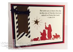 "Christmas in July is made with Stampin' Up's ""Every Blessing"" stamp set."
