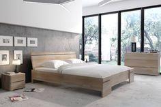 Łóżko drewniane bukowe Skandica SPARTA Maxi & Long - Internetowy sklep meblowy Onemarket.pl - #sypialnia #łóżka #bed #bedroom #łóżko #dlawysokich #beds #wysokiełóżko #drewno #łóżkodrewniane #łóżkodlawysokich #wygodnełóżko #polskiemeble #meble #furniture #design #wnętrza #moderndesign #interiors # High Beds, Mattress Frame, Strong Legs, Ottoman Bed, Bed Lights, Wood Beds, Interior S, Bed Storage, Round Corner