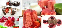 Receitas de sobremesas sem açúcar e com poucas calorias com chocolate e morango: bolo, bombom e tartelete de morango, tentação de chocolate Assista ao vídeo