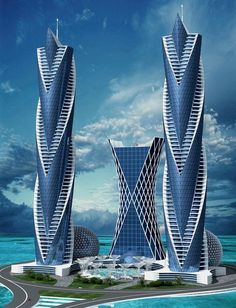 Inside HBA Singapore New Design Project At The Trump Tower – Architecture - architecture house Architecture Antique, Plans Architecture, Futuristic Architecture, Beautiful Architecture, Architecture Design, Zaha Hadid Architecture, Futuristic Design, Unusual Buildings, Amazing Buildings