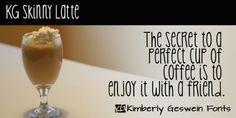KG Skinny Latte font download
