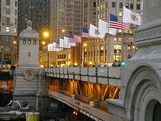 Michigan Avenue bridge - Chicago was so much fun to visit!