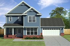 Traditional Style House Plan - 3 Beds 2.5 Baths 2132 Sq/Ft Plan #497-43 Exterior - Front Elevation - Houseplans.com