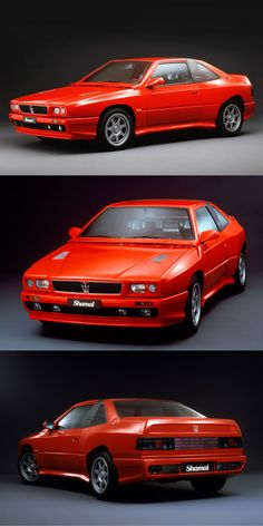 1990 Maserati Shamal / Marcello Gandini / 321hp 3.2l V8 / Italy / red / 17-372
