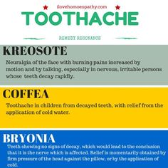 Natural Holistic Remedies Homeopathic Remedies for toothache. Also lemon extract (Watkin's is the best) works better than any commercially bought product. Flu Remedies, Holistic Remedies, Homeopathic Remedies, Holistic Healing, Health Remedies, Natural Remedies, Natural Healing, Remedies For Tooth Ache, Homeopathy Medicine