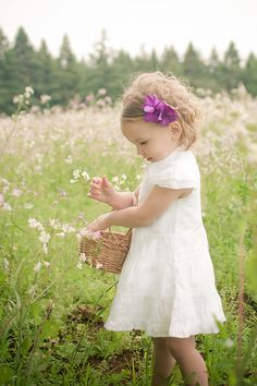 "Picking flowers for ""Papa"" 