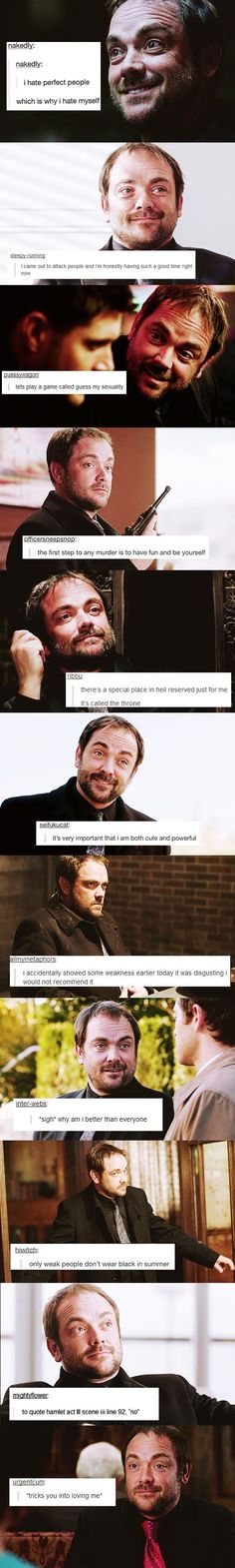 I just love Crowley so much... I hope that he doesn't die, but if he does he should really come back. Knock on wood