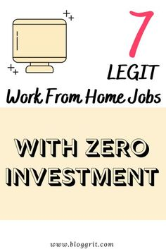 Explore 7 legitimate work from home jobs that do not require you to invest any money upfront. Scam-free jobs that you can do from home. #workfromhome #makemoneyfromhome #remoteworking #remotework #makemoneyonline #onlinejobs #remoteworking #remotejobs #wfh #workfromhome #onlinejobs  #makemoneyonline #legitworkfromhomejobs Make Money Now, Make Money Blogging, Make Money From Home, Earn Money, Money Tips, Legit Work From Home, Legitimate Work From Home, Work From Home Jobs, Extra Money Jobs