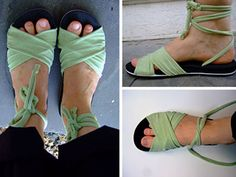 How To Make Your Own Sandals - Recycle flip flops by making them into a stylish pair of sandals.