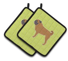 Pug Checkerboard Potholder