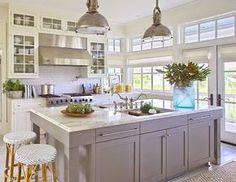 How wonderfully bright is this kitchen loving all the windows and that double sink!. By @urbangraceinteriors #kitchen #kitchenlove #kitcheninspo #kitchenideas #kitchendesign #kitchenisland #kitchendecor #kitchenwindow #kitchencabinets #kitchenbacksplash #kitchenlove #interiorinspo #interiorandhome #homedesign #homestyle #homeinspo #housedesign #housestyle #countrykitchen #coastalliving #coastalstyle #hamptonsstyle